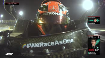 f1 scuse wolff a russell via radio ore 20.04 canale 207