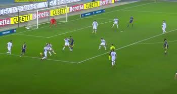 Verona-Inter, il tacco di Zaccagni