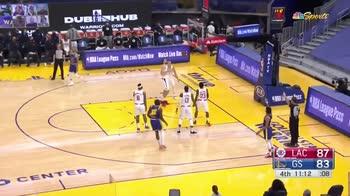 NBA, Steph Curry: l'assist attraversa tutto il campo
