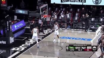 NBA: la tripla di Durant regala il successo ai Nets