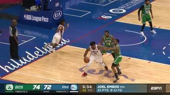 NBA, 42 punti di Joel Embiid contro Boston