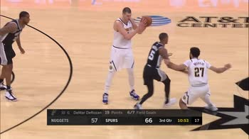 NBA, 35 punti per Nikola Jokic contro San Antonio