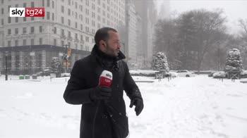 La tempesta di New York raccontata dall'inviato di Sky TG24