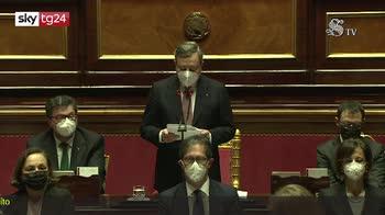 Governo Draghi, il premier parla in Senato