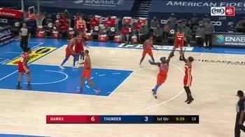 NBA: Hawks e Thunder con la maglia dello stesso colore
