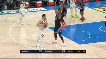 NBA, la tripla doppia di Nikola Jokic contro i Thunder