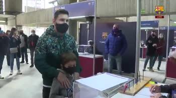 Messi al voto per le Presidenziali Barcellona