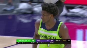 NBA, i 42 punti di Anthony Edwards contro Phoenix
