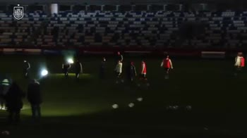 Spagna, blackout a Tiblisi durante l'allenamento. VIDEO