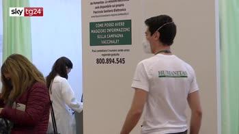 Vaccino Covid-19, il volontariato nel piano vaccinale all'Humanitas di Milano
