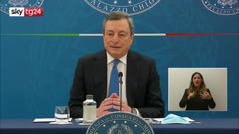 Draghi: dal 26 aprile zona gialla, ristorazione all'aperto a pranzo e cena