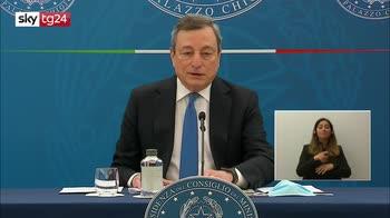 Draghi: rischio riaperture, ma campagna vaccinale sempre meglio