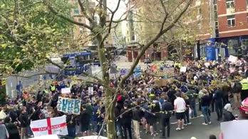 Le proteste dei tifosi del Chelsea contro la Superlega