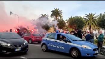 Spezia, l'accoglienza prima del match con l'Inter