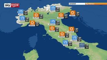 Piogge su mezza Italia ma nel weekend migliora
