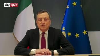 Clima, Draghi: agire adesso, subito, per non pentirci poi