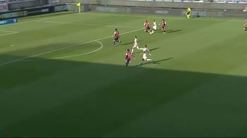 Cagliari-Roma, l'azione di Carles Perez