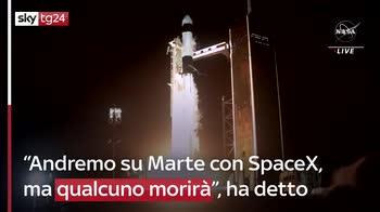 Musk: porterò l'uomo su Marte con SpaceX ma qualcuno morirà
