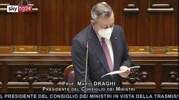 ERROR! Draghi, Primo obiettivo Recovery riparare danni pandemia
