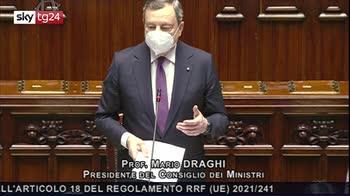 Recovery plan, la replica di Draghi alla Camera