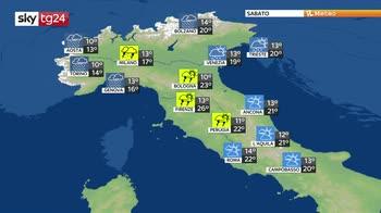 Previsioni meteo: il maltempo attraversa il centro nord