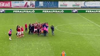 Perugia, è Serie B: la festa al fischio finale