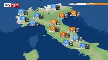 Previsioni meteo: settimana di temporali improvvisi