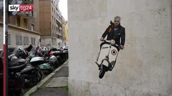 A Roma murales dedicato a Mourinho