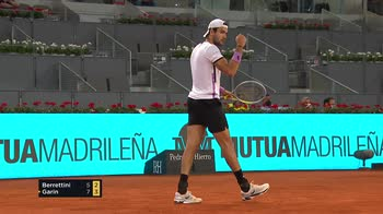 Madrid Open, Berrettini-Garin 5-7, 6-3, 6-0: highlights