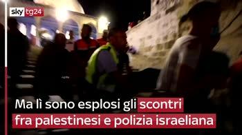 Gerusalemme, oltre 180 feriti in scontri su Spianata Moschee