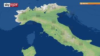 Previsioni meteo: attese forti piogge al nord