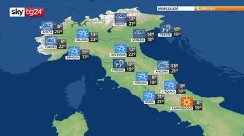 Previsioni meteo: piogge a raffica per tutta la settimana