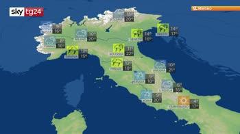 Previsioni meteo: clima fresco e piogge forti
