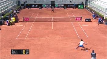 internazionali tennis roma zverev dellien highlights