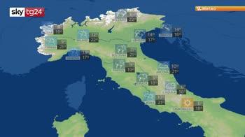 Previsioni meteo: forti temporali e grandinate