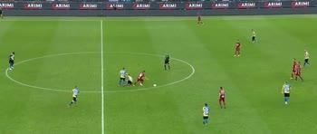 Inter-Roma, il dribbling di Villar