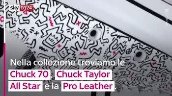 VIDEO Le opere di Keith Haring nelle nuove All Stars