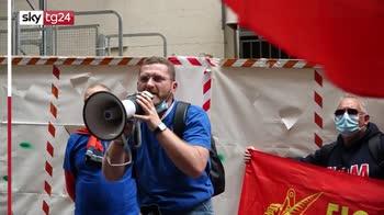 protesta dei lavoratori Ex Ilva di Taranto al Mise