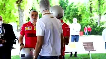 Cristiano Ronaldo, sfida in Ferrari con Leclerc e Sainz