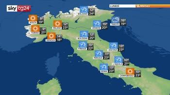 Previsioni meteo: temporali improvvisi al nord