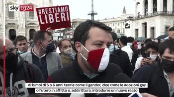 """Salvini: """"Il Ddl zan ghettizza, molti gay sono contro"""""""