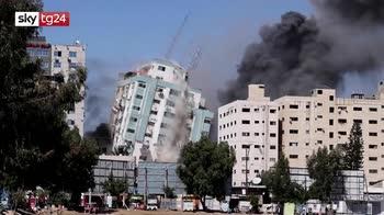 gaza, torre dei media esplosa la testimonianza di un reporter