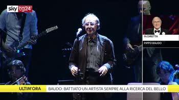 Addio Battiato, Pippo Baudo ricorda il grande cantautore