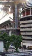 Madrid, incendio in un cantiere del Bernabeu