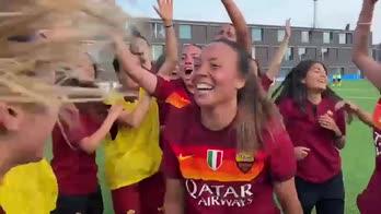 roma femminile campione italia primavra festa