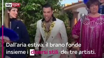 """VIDEO Fedez, Achille Lauro e Orietta Berti con """"Mille"""""""