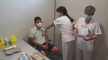 Spagna, vaccinati i giocatori nel ritiro a Las Rozas