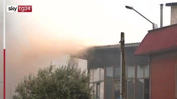 fl Incendio in una fabbrica di vernici nel pinerolese