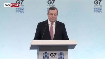 G7, le parole di Draghi