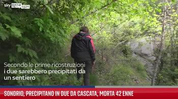 Sondrio, precipitano in due da cascata, morta 42 enne
